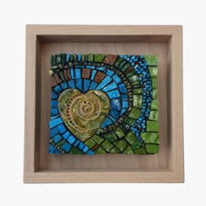 Small Art Spiral Heart