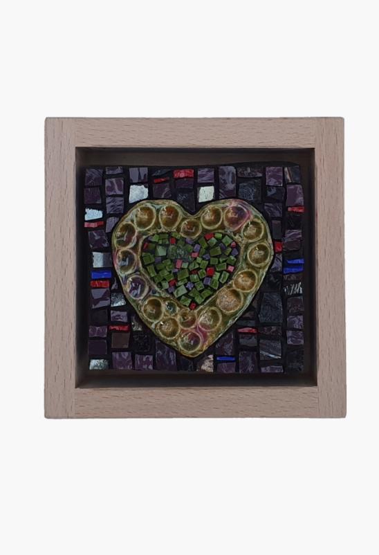 Small Art Green Heart